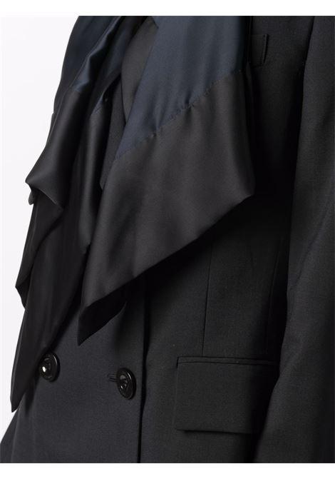 giacca doppio petto con sciarpa SACAI | Giacca | 21-05648001