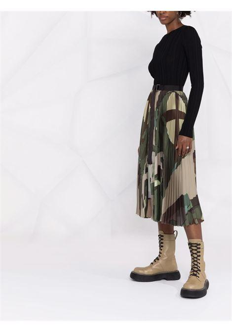 gonna plissé stampa camouflage KAWS SACAI | Gonna | 21-05685936