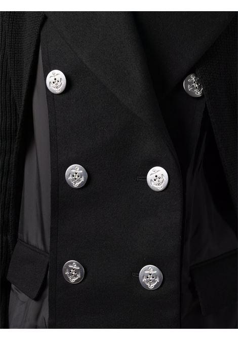 giaccone doppio petto  in tessuto e maglia SACAI | Giacca | 21-05724001