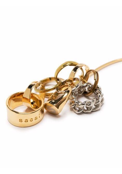 mono orecchino con anelli SACAI | Orecchini | 21-05885955