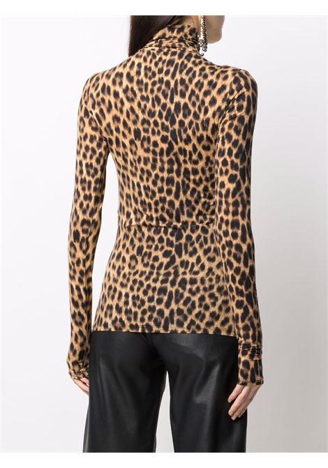 maglia  collo alto stampa animalier SPORTMAX | Maglia | FLY002