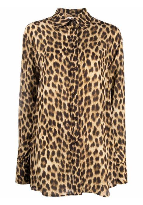 camicia con stampa animalier SPORTMAX | Blusa | PARAGGI002