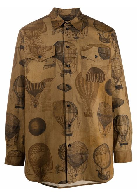 camicia con stampa mongolfiere UMA WANG | Camicia | UM1517UW249