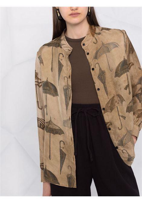 camicia con collo alla coreana UMA WANG | Camicia | UP1012UW809