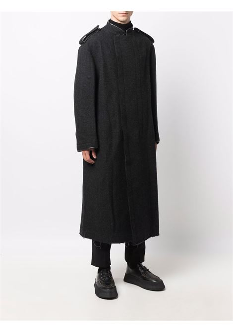 cappotto lungo con collo alla coreana YOHJI YAMAMOTO pour homme | Cappotto | HX-C18-1111