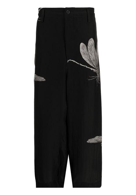 pantalone con stampa libellule YOHJI YAMAMOTO pour homme | Pantalone | HX-P26-4331
