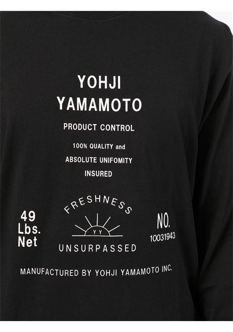 t-shirt manica lunga collaborazione con NEW ERA YOHJI YAMAMOTO pour homme | Maglia | HX-T82-9831