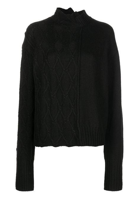 maglione con doppia lavorazione YOHJI YAMAMOTO | Maglia | FX-K20-1971