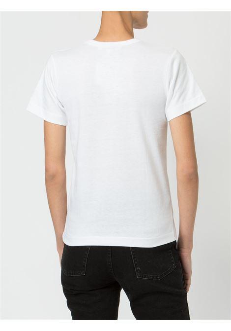 T-shirt con stampa e applicazione cuore PLAY COMME DES GARCONS | Maglia | P1T2351