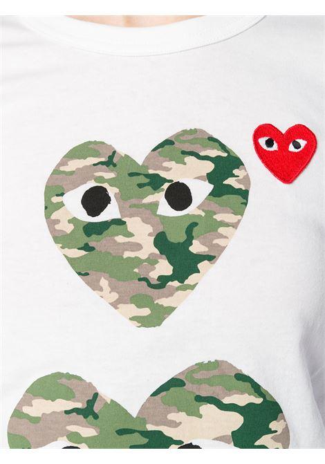 T-shirt con stampa e applicazione cuore PLAY COMME DES GARCONS | Maglia | P1T2451