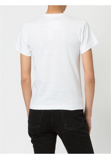 T-shirt con stampa e applicazione cuore PLAY COMME DES GARCONS | Maglia | P1T2471