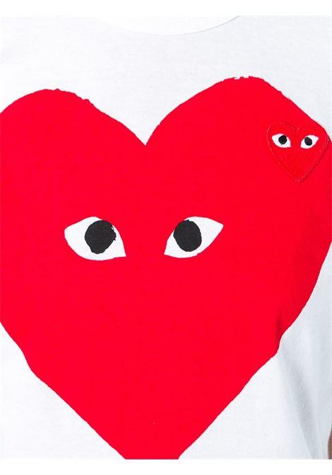 T-shirt con stampa e applicazione cuore PLAY COMME DES GARCONS | Maglia | P1T2191