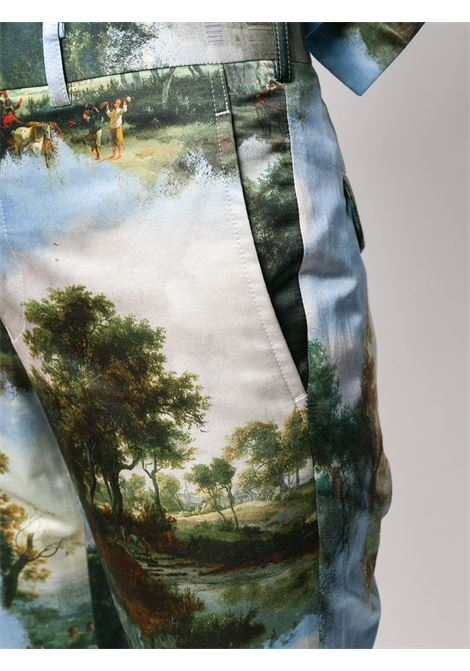 Pantaloni slim con stampa COMME DES GARCONS | Pantalone | GE-P002-0511