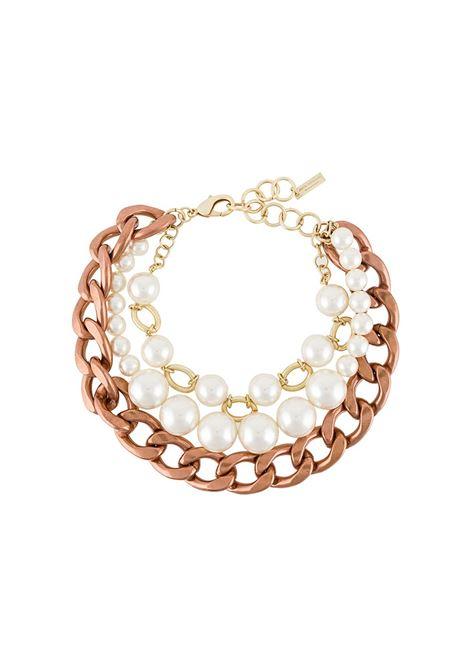 Collana a catena con perle sintetiche JUNYA WATANABE | Collana | JE-K801-0511
