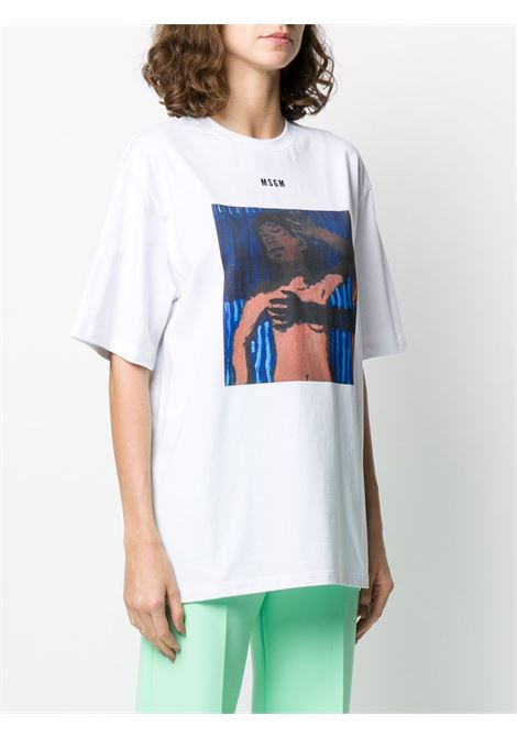 T-shirt con stampa MSGM | T-shirt | M277 20749801