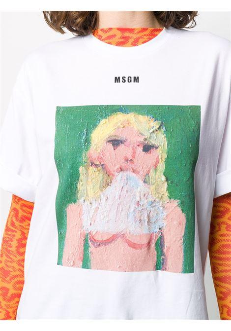 T-shirt con stampa MSGM | T-shirt | M280 20749801