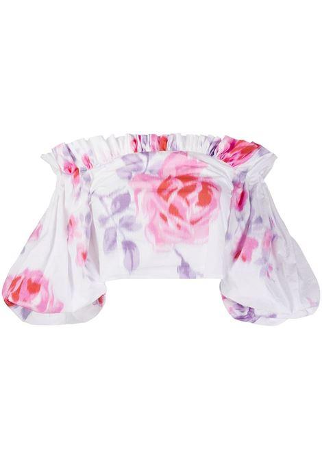 Top corto a fiori PHILOSOPHY di LORENZO SERAFINI | Camicia | A0221 21881002
