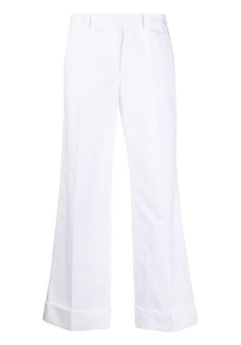 Pantaloni bianchi con risvolto PHILOSOPHY di LORENZO SERAFINI | Pantalone | A0314 7391