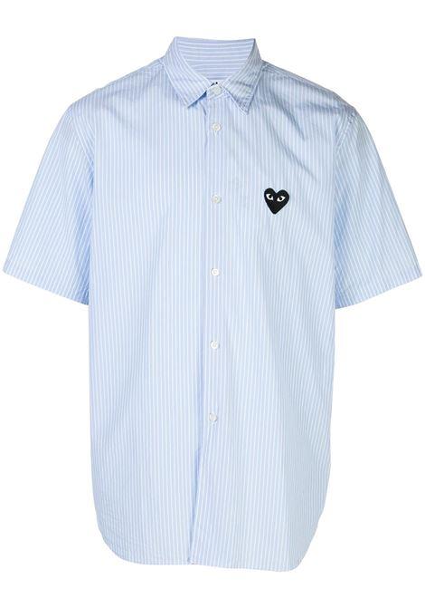 Camicia a righe con applicazione cuore PLAY COMME DES GARCONS | Camicia | P1B0221