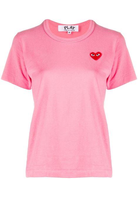 T-shirt con applicazione cuore PLAY COMME DES GARCONS   T-shirt   P1T2713