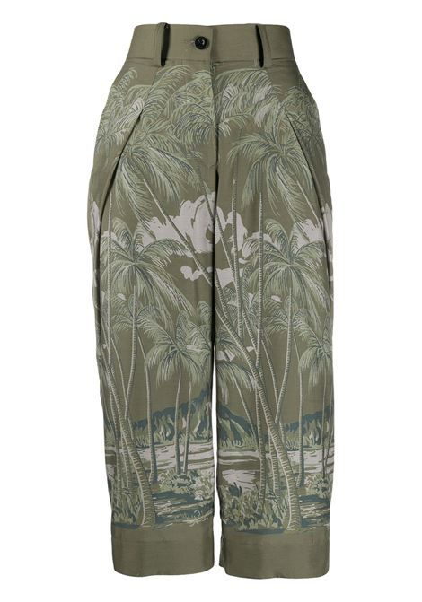 Pantaloni corti con stampa SACAI | Pantalone | 20-04836501