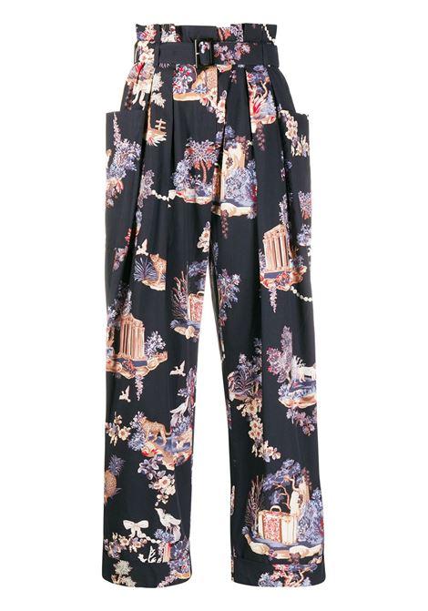 Pantaloni con stampa a fiori VIVETTA | Pantalone | B061 0133S6K1