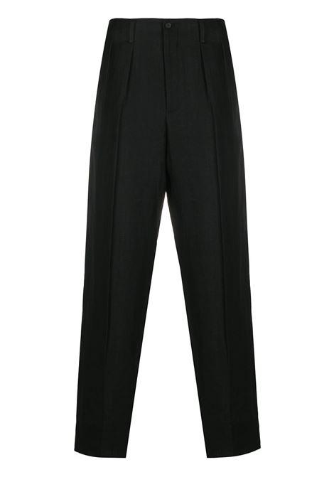 Pantaloni in lino YOHJI YAMAMOTO | Pantalone | HN-P83-3501