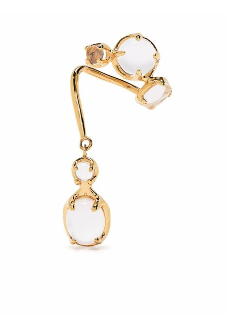 orecchino singolo con pendente cristallo ALAN CROCETTI | Orecchini | AC-DRIP-EARCUFFLGOLD VERMEIL