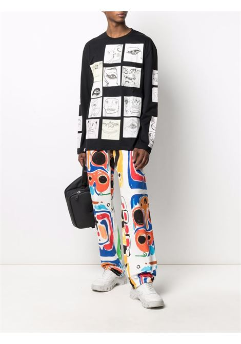 pantalone 5 tasche con stampa astratta CHARLES JEFFREY LOVERBOY | Jeans | CJLSS21ADJEMCHRPRT