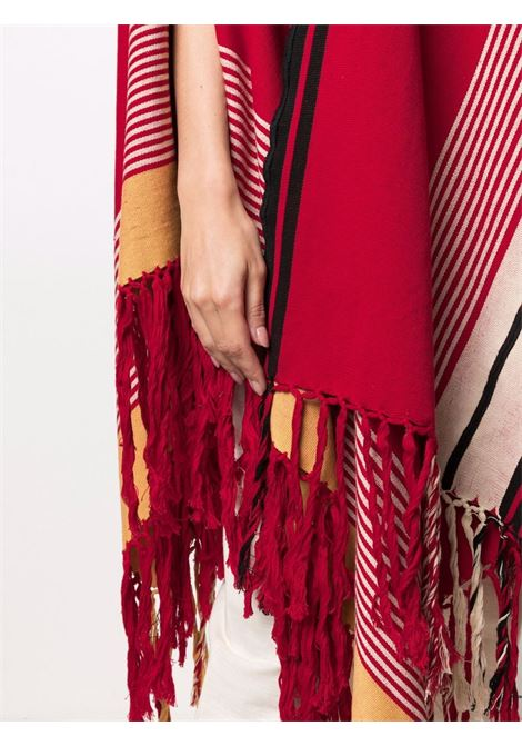 poncho con frange COLVILLE | Poncho | CVS21207REDMU