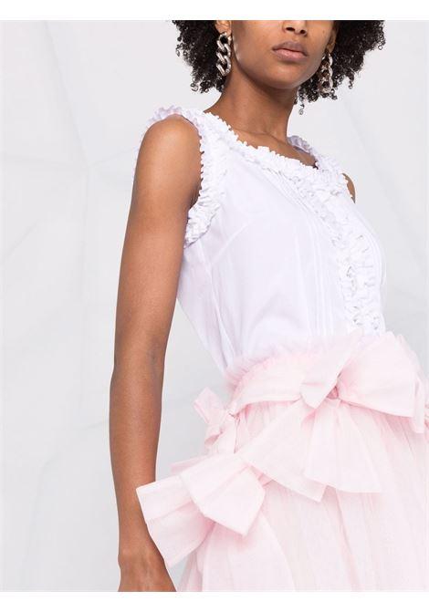 top smanicato con rouches COMME DES GARCONS GIRL | Blusa | NG-B007-0511