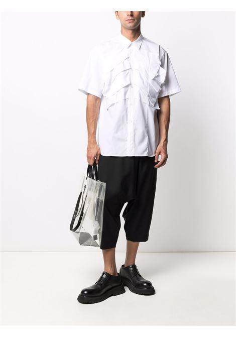 camicia maniche corte con grandi pieghe frontali  cucite COMME DES GARCONS Homme Plus | Camicia | PG-B028-0511