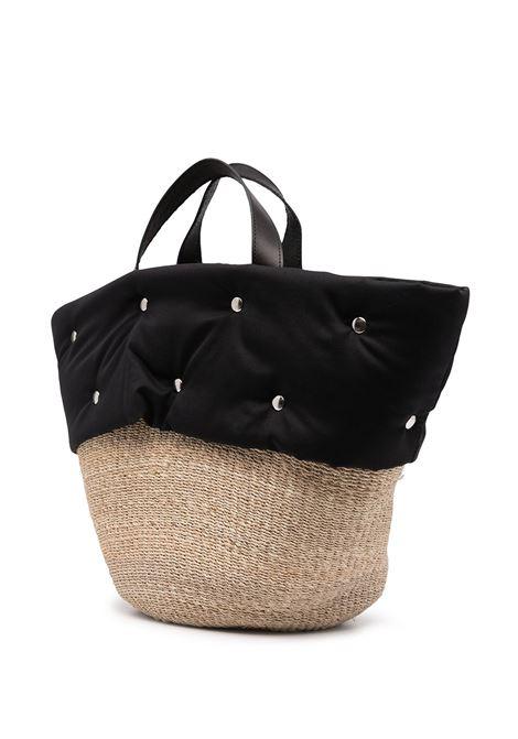 coffa in paglia con dettaglio borchie COMME DES GARCONS TRICOT | Borsa | TG-K201-0511