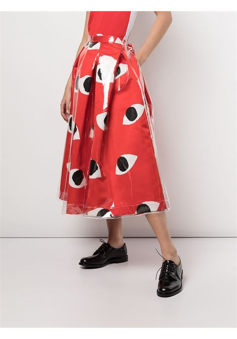 Gonna a ruota con stampa occhi COMME DES GARCONS | Gonna | GG-S008-0511