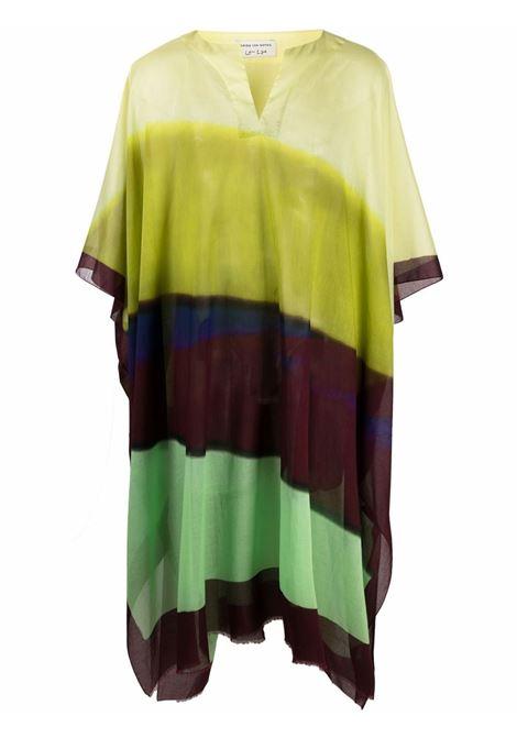 Caftano unisex con stampa multicolor Len Lye DRIES VAN NOTEN | Caftano | CARTLAND2014202