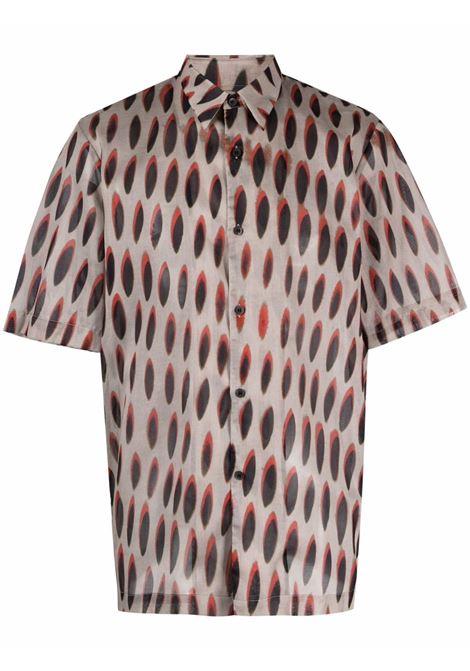 camicia manica corta , stampa Len Lye DRIES VAN NOTEN | Camicia | CLASENBIS2001802