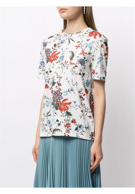 t-shirt manica corta con motivo floreale ERDEM | T-shirt | 5817CGTSWHITE/MULTI