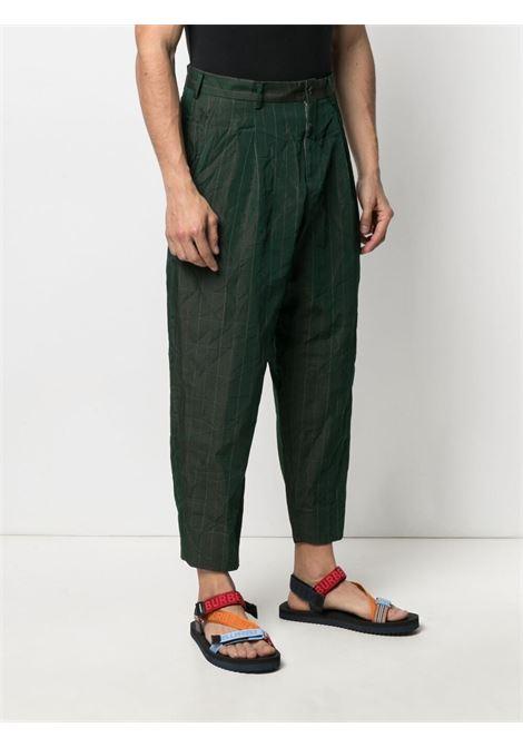 Pantaloni crop a righe con effetto stropicciato HOMME DEUX COMME DES GARCONS | Pantalone | DG-P028-0511
