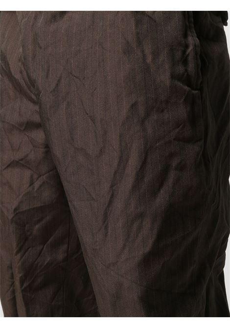 Pantaloni a righe con effetto stropicciato HOMME DEUX COMME DES GARCONS | Pantalone | DG-P031-0511