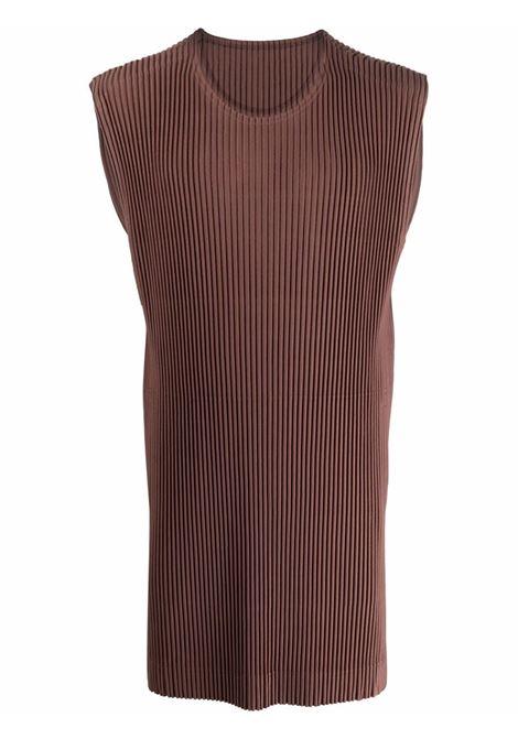 canotta giroicollo con tasche HOMME PLISSE | T-shirt | HP16JK12644