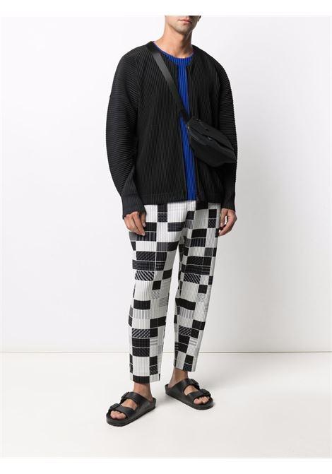 cardigan con zip in tessuto plissé HOMME PLISSE | Cardigan | HP16JL11515