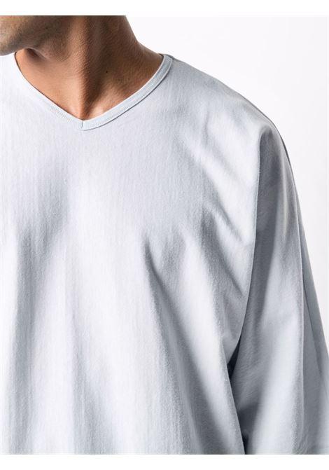 t-shirt scollo a V manica corta, oversize HOMME PLISSE | T-shirt | HP17JK30670