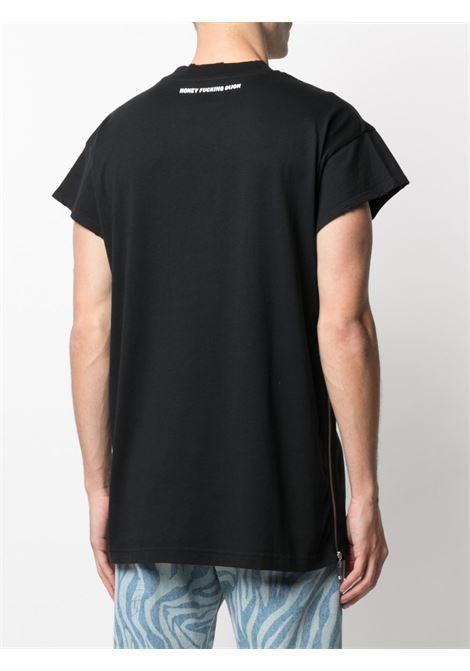 t-shirt mezza manica con zip laterali HONEY FUCKING DIJON | T-shirt | HFD03T0011