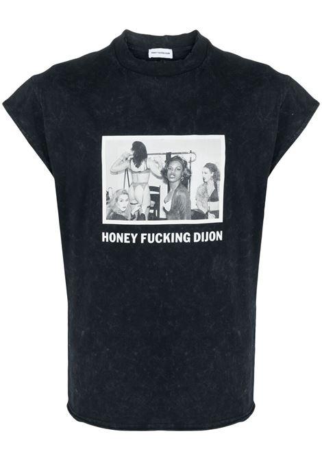 T-shirt unisex con stampa grafica e logo HONEY FUCKING DIJON | Camicia | HFD03T0041