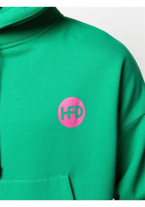 Felpa unisex con stampa logo e cappuccio con coulisse HONEY FUCKING DIJON | Felpa | HFD03T0222