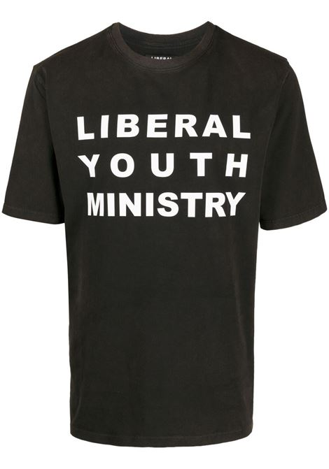 T-shirt unisex con stampa logo sulla parte frontale LIBERAL YOUTH MINISTRY | T-shirt | TS58LYMTS58