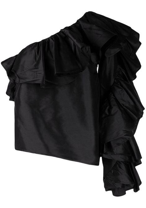 top monospalla con manica lunga e rouches MARQUES ALMEIDA | Top | TP0371DOUBLACK