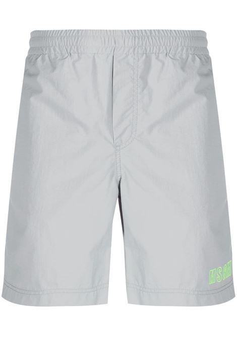 Shorts sportivi con logo ricamato MSGM | Shorts | MB02X21700096