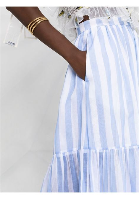 Gonna lunga a balze con stampa a righe MSGM | Gonna | MDD108A21731084