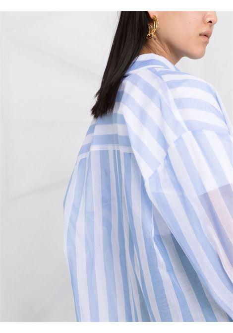 Camicia semi trasparente con stampa a righe MSGM | Camicia | MDE116A21731084